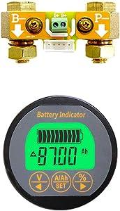 AiLi Voltmeter Ammeter Voltage Current Meter Voltmeter Ammeter 100V 350A Caravan RV Motorhome 999 AH