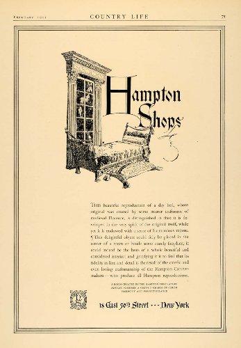 Hampton Daybed (1925 Ad Hampton Shops Day Bed Reproduction Cabinetmaker - Original Print Ad)
