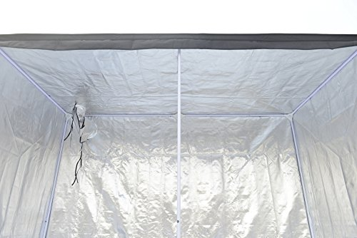 """51 50 LW ZL - Grow Tent Indoor 8x4 Feet Not Include LED - Large Reflective Mylar Hydroponic/Hydro Waterproof Seedling Plant Growing Room for Grow Tents, Black 96""""x48""""x78"""""""