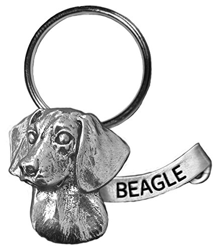 Small Antiqued Pewter Beagle Key Chain ()