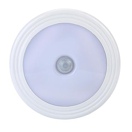 LED Sensor Luz, jaminy 6pcs LED Luz PIR inalámbrico auto Sensor Detector de movimiento lámpara