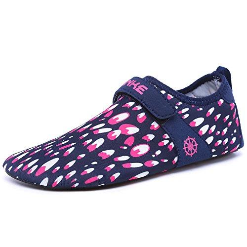 esquí Zapatos piel rápido S12 transpirable descalzos amantes secado de Zapatos zapatos playa Lucdespo roja de natación la acuático rosa calzado de zapatos qSxwBCzT
