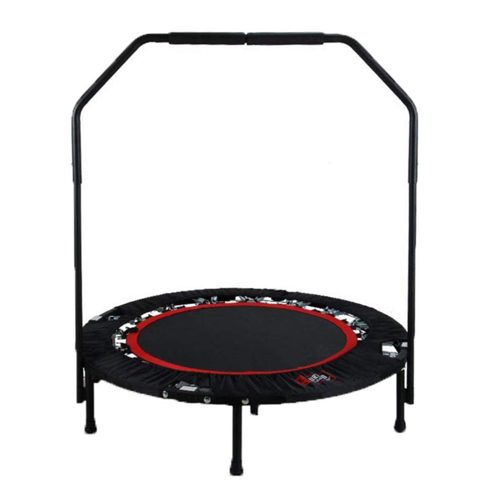 ASfairy Household Indoor Gym Foldable 40 Inch Trampoline Bounce Bed Adult Round Fitness Bed for Adults Kids Body Fitness Training Workouts, Capacity 130Kg by ASfairy