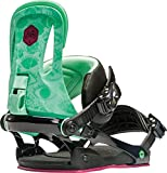 Rome Snowboards Women's G2 Strut Snowboard Bindings, Green Eyes, Small/Medium
