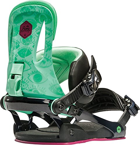 Rome Snowboards Women's G2 Strut Snowboard Bindings, Green Eyes, Small/Medium by Rome Snowboards