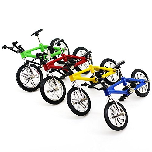 4 Pack Finger Mountain Bike Excellent Functional Miniature Metal Toys Mini Extreme Sports Finger Bicycle Cool Boy Toy Creative Game Toy Set Collections by Yexpress (Image #3)