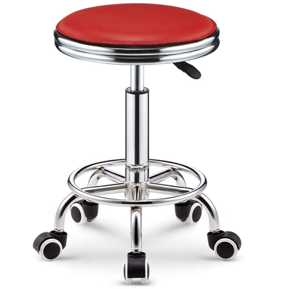 Red 39-51cm WEIYV-Chairs & Stools, Bar Table Chair Lifting redate Backrest Chair High Stool Bar Stool Beauty Stool Household Fashion Creative Round Stool (color   Black 38-50cm)