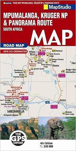 Buy Road Map Mpumalanga Kruger National Park Panorama Route Book