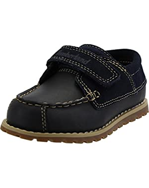 Pokey Pine Oxford Navy Leather Infant Boat Shoes