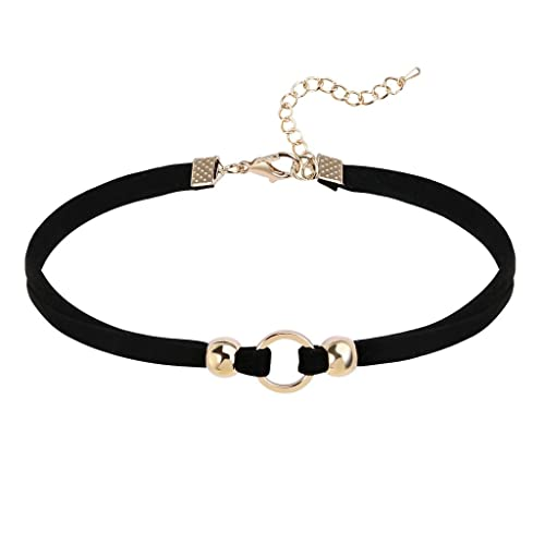Epinki Silver Plated Choker Necklace Silver Cubic Zirconia Chain Necklace for Women and Girls