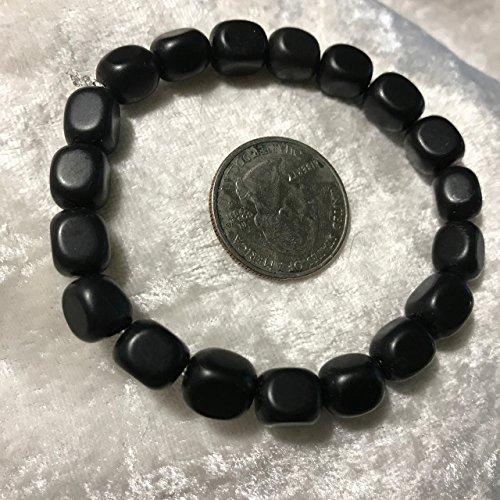 Black Onyx Cubes Beaded Gemstone Stretch (Black Onyx Cube Beads)