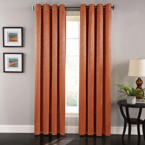 LORRAINE HOME FASHIONS Aurora Grommet Window Curtain Panel, 55