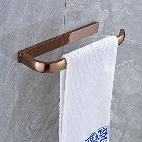 lovely Rozin Rose Gold Bathroom Towel Rail Wall Mounted Towel Bar Hanger