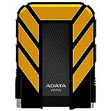 ADATA HD710 1TB USB 3.0 Waterproof/ Dustproof/ Shock-Resistant External Hard Drive, Yellow (AHD710-1TU3-CYL)
