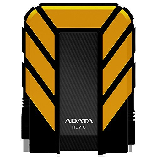 ADATA HD710 1TB USB 3.0 Waterproof/ Dustproof/ Shock-Resistant External Hard Drive, Yellow (AHD710-1TU3-CYL) by ADATA