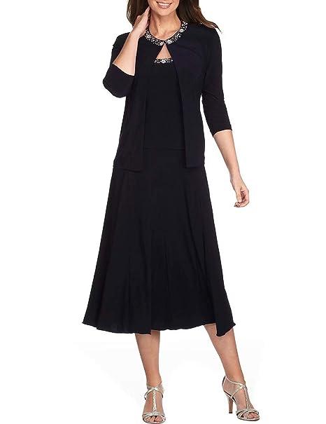 Amazon.com: NaXY - Vestido de dos piezas para madre de novia ...