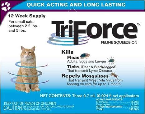 Amazon.com: 3 Mes Triforce para las pequeñas Gatos 2,25 ...