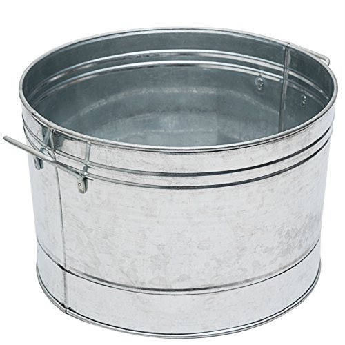- Achla Designs C-50 Round Galvanized Steel tub, Standard,