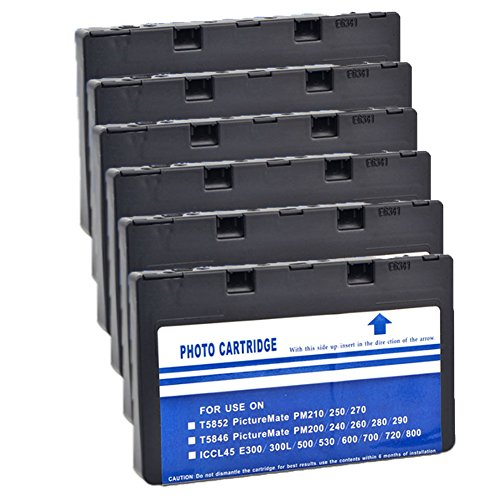 LiC-Store 6x Compatible Ink Cartridge T5846 suit For PictureMate 200 240 260 280 290 PM240 PM225 PM300 inkjet printer - T5846 Compatible Ink