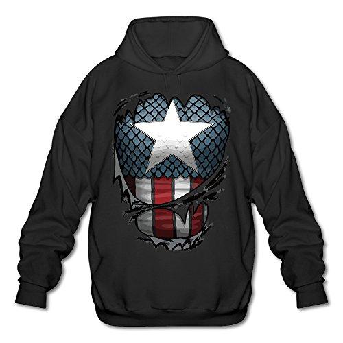 Captains Suit Men's Fleece Hoodie Adult Sweater Black ()