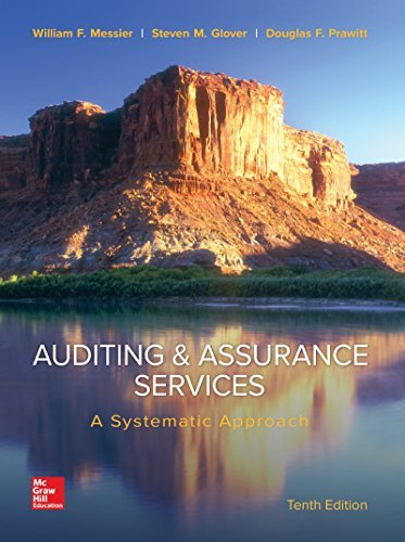 Auditing & Assurance Services: A Systematic Approach by William Messier Jr (2016-01-20)