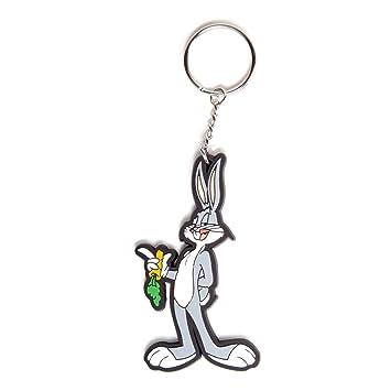 Looney Tunes Errores Llavero de goma del conejito de 6 cm Bioworld
