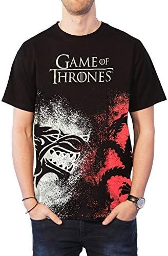 왕좌의 게임 T 셔츠 하우스 시길 페이스 오프 로고 를 벗어난 / Game Of Thrones T Shirt House Sigil Face Off Logo 新しい 公式 メンズ