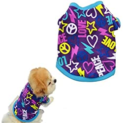 Puppy Clothes,Haoricu Spring Winter Pet Coat Pet Dog Clothes Cat Puppy Pet Puppy Vest T Shirt Small Pet Clothes Dog Hoodie Custome Apparel Warm Sweatshirt (XS, Purple)