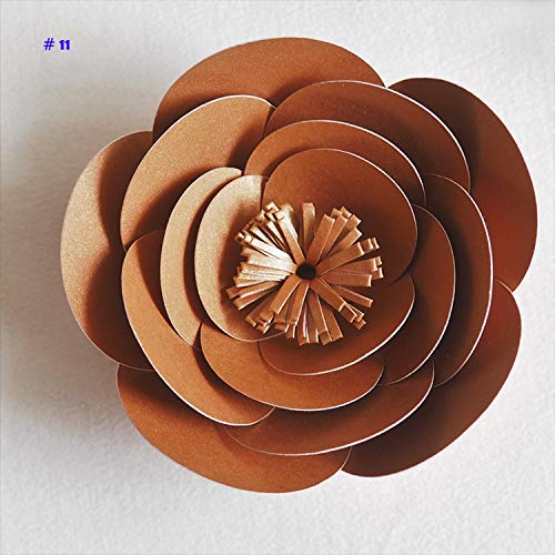 SaveStore 1 Piece 10CM Cardstock Personalized Small Paper Flower for Wedding Backdrops Windows Display Kids' Room Decorations Handmade
