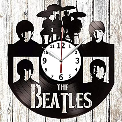 The Beatles Vinel Record Wall Clock Home Art Decor Original Gift Unique Design Vinyl Clock Black
