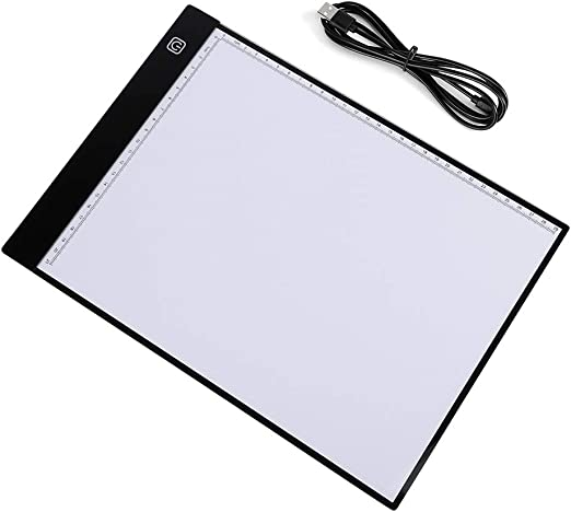 EBTOOLS A4 Tablero Caja de Luz de Rastreo LED, Almohadilla de Dibujo Caja de Luz Arte de Atenuación Ultradelgado Sin Escalones USB 2.5W 5V, Panel Dibujo: Amazon.es: Hogar