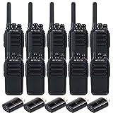 Retevis RT28 Walkie-Talkies Adults Rechargeable Two Way Radio FRS Emergency Alarm Handsfree UHF 16CH VOX Security Long Range 2 Way Radios(10 Pack)