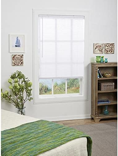 Project Source 1-in Cordless White Mini-Blinds Common 39-in Actual 38.5-in x 64-in