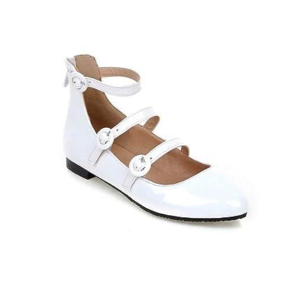 acquista l'originale nuovo economico autentico Scarpe Casual Donna Moda Handmade Cintura Fibbia Punta Toe ...