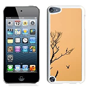 NEW Unique Custom Designed iPod Touch 5 Phone Case With Stork Birds Sunset Tree_White Phone Case