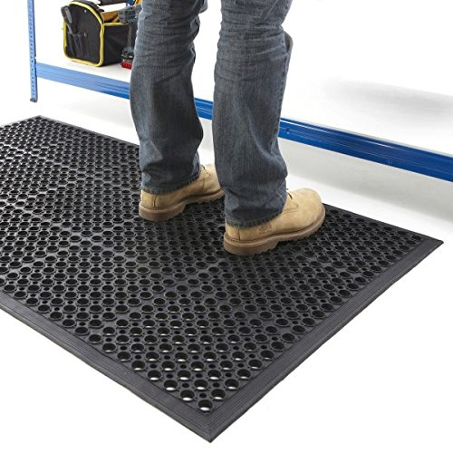 New Non-Slip Entrance Mat Indoor Anti-Fatigue Workshop Rubber Heavy Duty Mats - 3 Sizes 1200 800