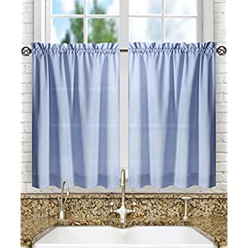 Ellis Curtain Stacey 56 By 45 Tailored Tier Pair Curtains Slate
