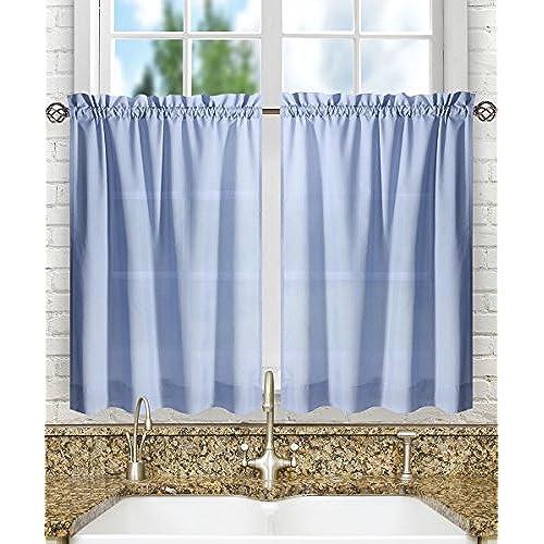 Valances Kitchen Curtains Amazon: Blue Kitchen Curtains: Amazon.com