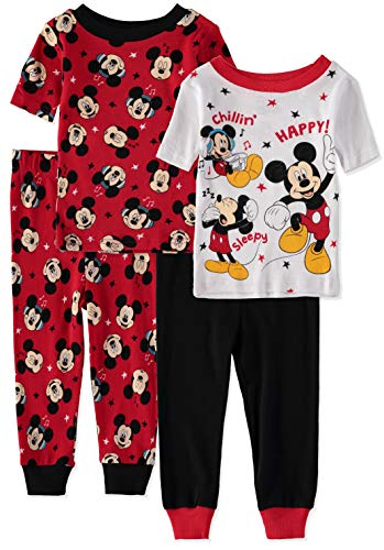 Mickey Mouse Little Boys' Baby Four-Piece Pajama Set (24 Months, Adventure Pals) ()