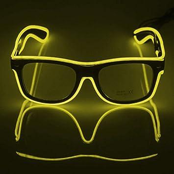 Blau AZX LED-Brillen Mode Nacht Leuchten Gl/äser Multicolor Light Up Brillen F/ür Party Festival Kost/üm Club