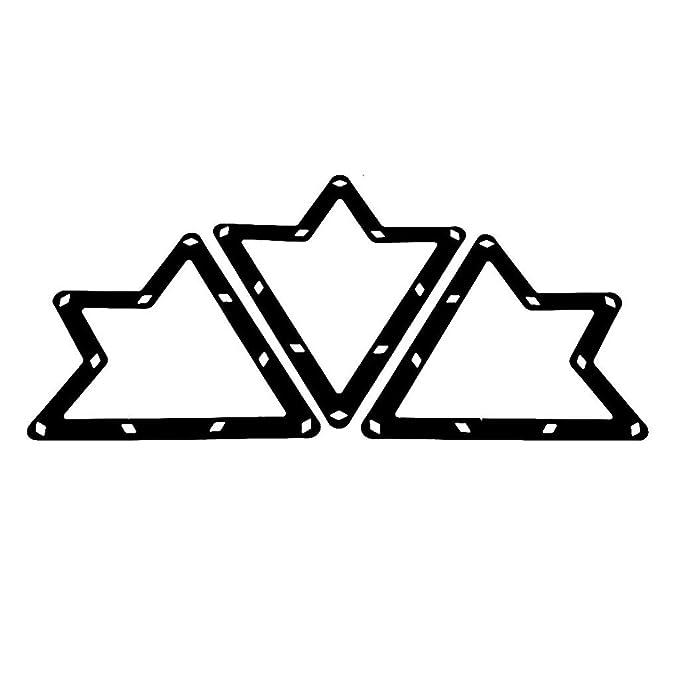 SODIAL 6pzs Estante de magia Accesorios de taco de triangulo de billar negro 8,9 y 10 bolas R Estante de magia