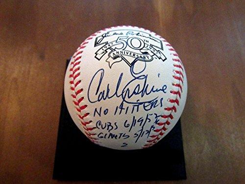 Carl Erskine 1955 Wsc Dodgers Stat Signed Auto Jackie Robinson Onl Baseball - JSA Certified - Autographed Baseballs