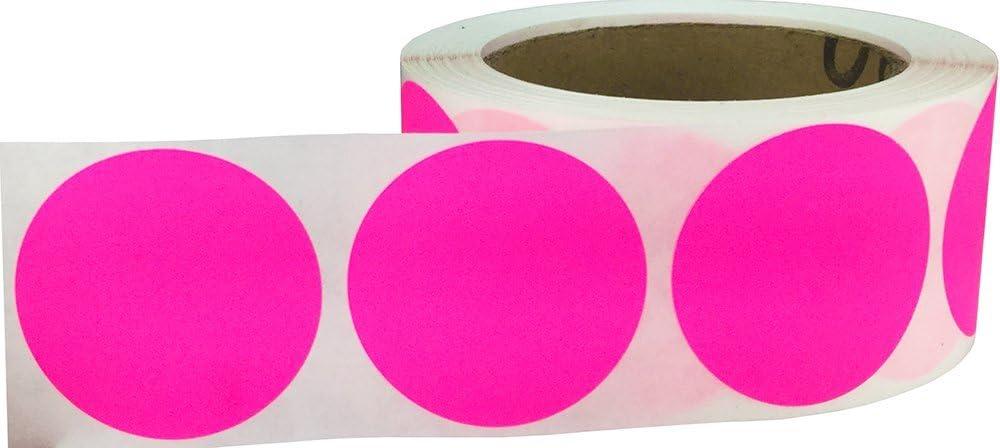 51 mm 2 Zoll Runde Gelb Kreis Punkt Aufkleber 500 Etiketten auf einer Rolle