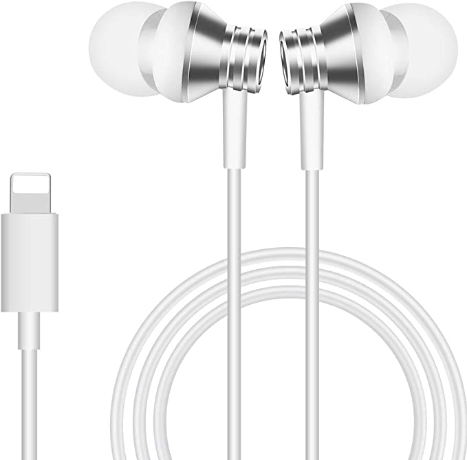 Microphone Earphones Stereo Headphones NoiseIsolating Headset Fit Compatible with iPhone 11//Xs//XR//XS Max//iPhone 7//7 Plus iPhone 8//8Plus //iPhone X Earphones iSuperfine Earbuds 1Pack