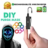 2019 NEW Rechargeable EL Wire Adapter 5 Modes Controller Only 0.8oz Electroluminescent Wire Driver Inverter for DIY Party Light Up Purge Mask , Bulk Accessories DIY Car Bike Neon Clothing Hat Glasses