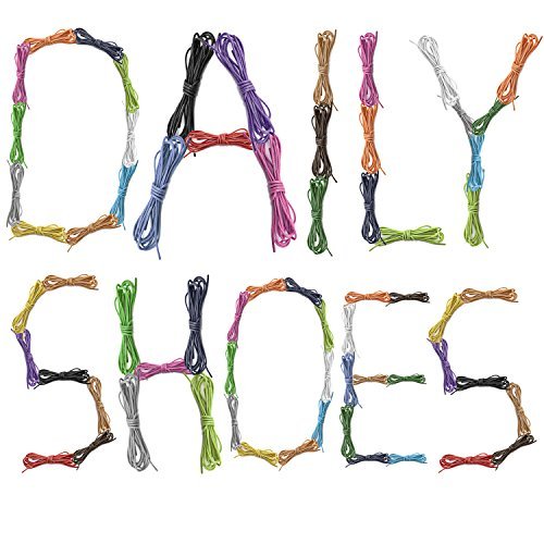 Oxford Shoes Tan DailyShoes PACK Shoelaces 3 for Thin Round 3 PAIRS Waxed Green Lime Flat Pairs Royal Hiking Dress Blue qvTTwC7