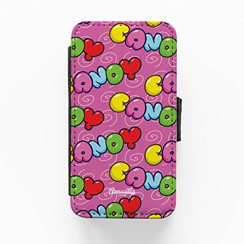 Purple Candy Hochwertige PU-Lederimitat Hülle, Schutzhülle Hardcover Flip Case für iPhone 4 / 4s vom BYMBOW + wird mit KOSTENLOSER klarer Displayschutzfolie geliefert