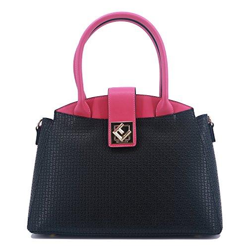 refente Fushia Fidelio de en cuir Sac II Noir Lapidus porté main PVC Ted SWWq78wO