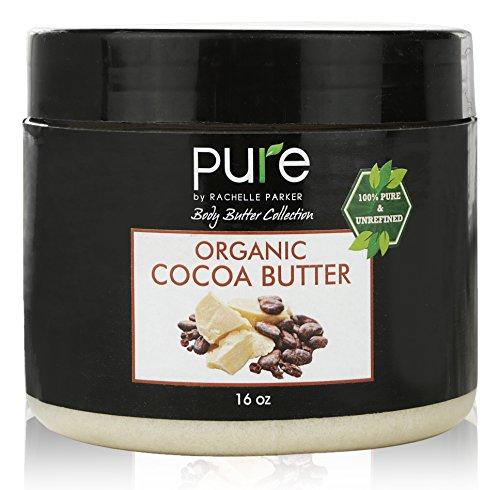 PURE Organic Cocoa Butter 16 oz, Raw Unrefined Grade A Cacao