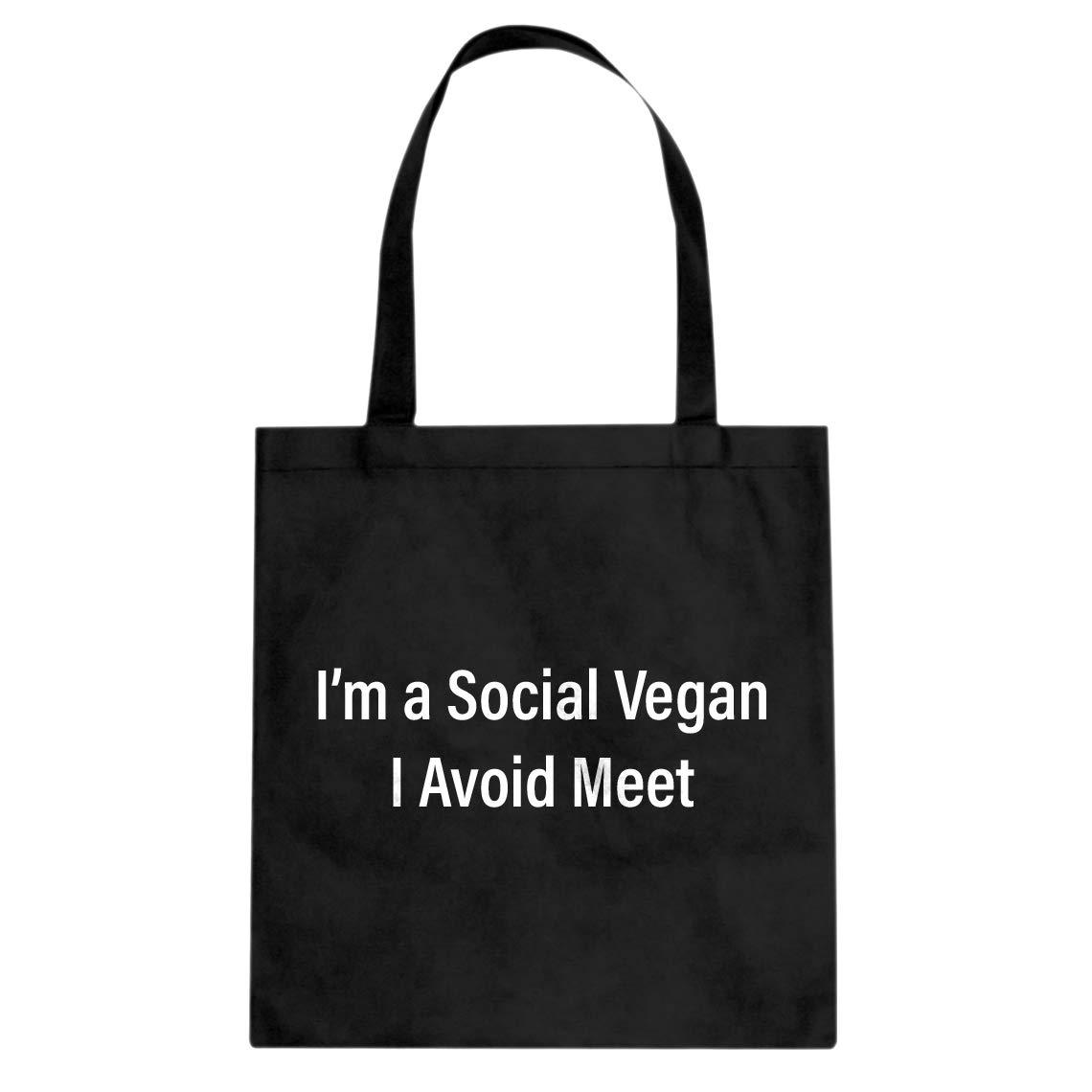 Indica Plateau Social Vegan Cotton Canvas Tote Bag